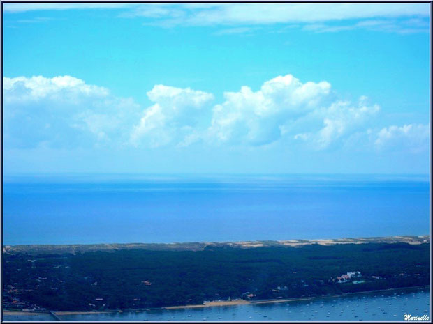 Le Cap Ferret, entre Bassin et Océan Atlantique, Bassin d'Arcachon vu du ciel (33)
