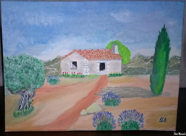 """JLA Artiste Peintre - """"Maset Provençal en Lubéron"""" 039 - Peinture sur toile"""