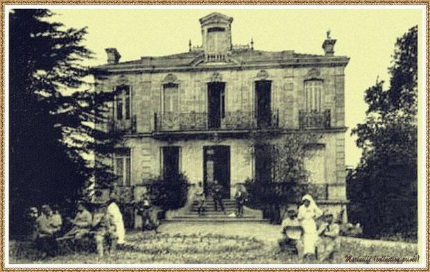 """Gujan-Mestras autrefois : villa """"La Régence"""", maison Mme Dupin, ambulance et hôpital militaire durant guerre 14-18, Cours de la République, Bassin d'Arcachon (carte photo, collection privée)"""