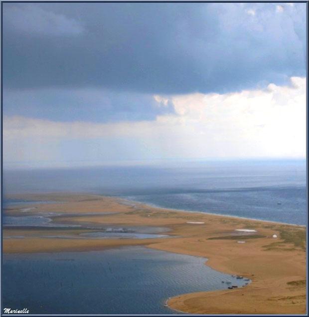 Le Banc d'Arguin et les Passes, entre Bassin et Océan Atlantique, Bassin d'Arcachon (33) vu du ciel