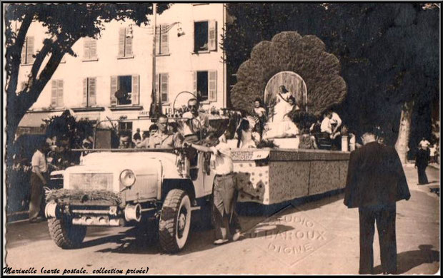 Corso de la Lavande de Digne en 1948 (carte postale, collection privée)