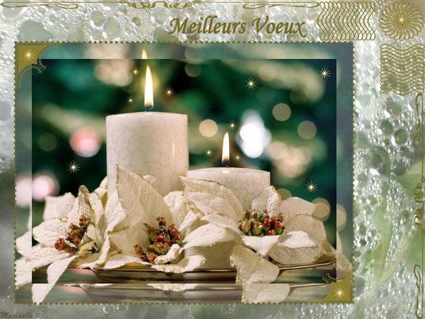Meilleurs voeux, féerie blanche et or