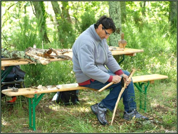 Atelier de sculpture sur bois à la Fête de la Nature 2013 au Parc de la Chêneraie à Gujan-Mestras (Bassin d'Arcachon)