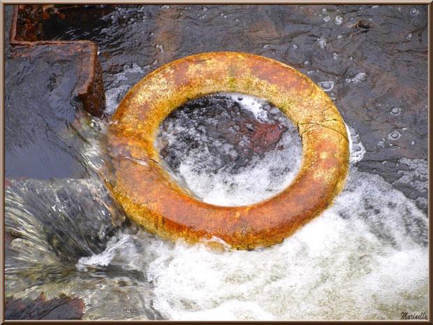 Vieille bouée au fil du Canal des Landes au Parc de la Chêneraie à Gujan-Mestras (Bassin d'Arcachon)