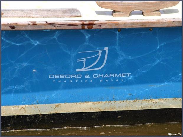 """Pétroleuse """"Thétys"""", détail coque, Chantier Naval Debord et Charmet, Port de Meyran à Gujan-Mestras, Bassin d'Arcachon (33)"""