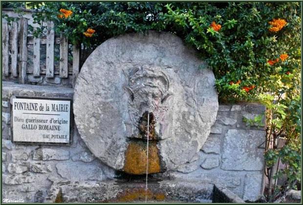 Fontaine de la Mairie à Fontaine de Vaucluse, Pays de La Sorgue, Vaucluse (84)