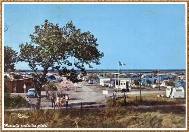 Gujan-Mestras autrefois : La Hume, le Camping Municipal à Verdale, Bassin d'Arcachon (carte postale, collection privée)