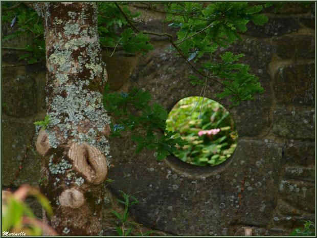 La Lande Dorée (oeil dans un mur)  - Les Jardins du Kerdalo à Trédarzec, Côtes d'Armor (22)