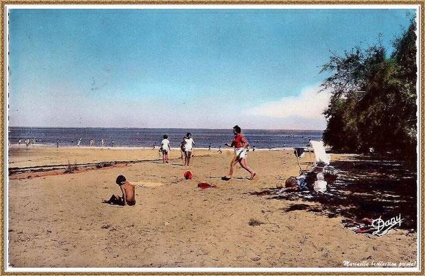 Gujan-Mestras autrefois : la plage de La Hume, Bassin d'Arcachon (carte postale, collection privée)