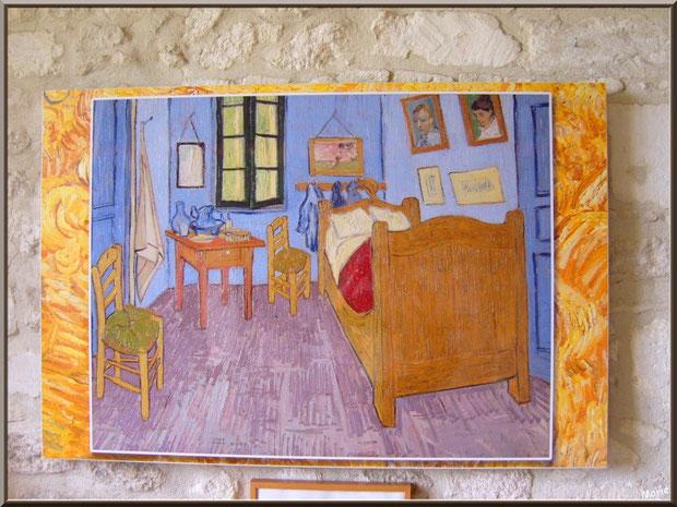 """Tableau """"La chambre de Vincent à Arles"""" (1889) de Van Gogh dans sa chambre au monastère de Saint Paul de Mausole à Saint Rémy de Provence (Alpilles - 13)"""