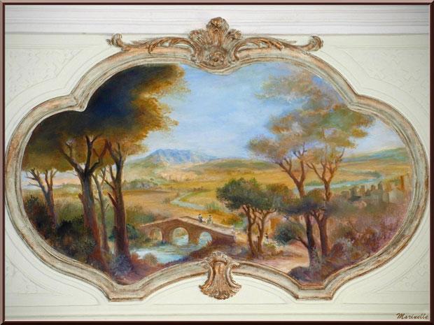 Musée Marc Deydier, village de Cucuron, Lubéron (84) : fresque murale