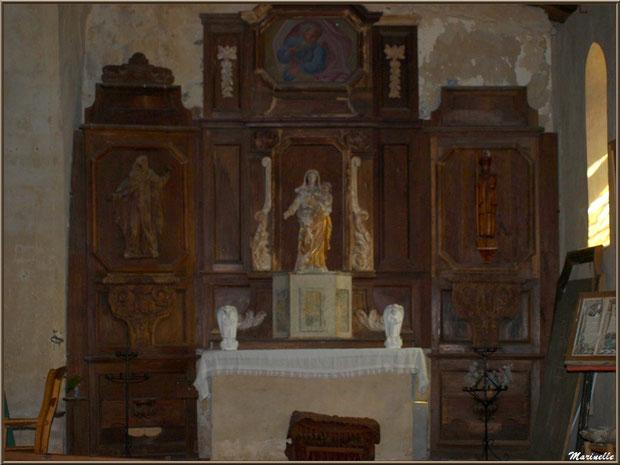 L'autel de la Vierge, église Saint Pierre de Mons à Belin-Beliet (Gironde)