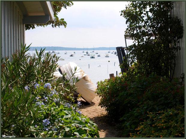 Maisons en bordure de plage et du Bassin, Village de L'Herbe, Bassin d'Arcachon (33)