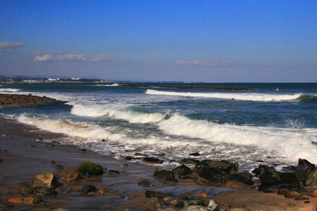 茨城県の海岸  晴天、気持ちいい! 海岸はなんだか元気になる