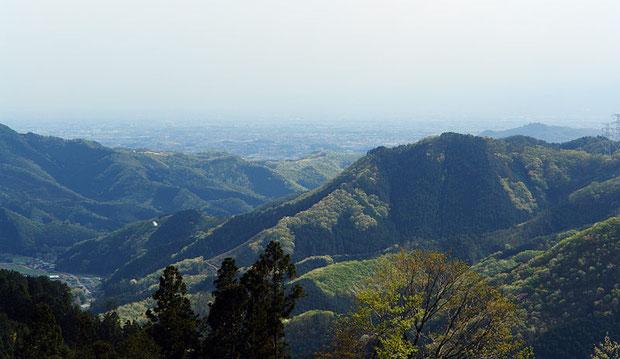 足利市の北部には、こんな低山が連なっている