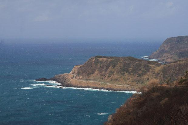 猿山から望む日本海