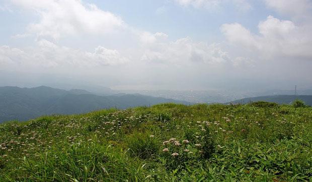 高ボッチ高原  遠くに諏訪湖を望む