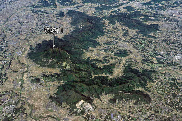 #14 筑波山と筑波山塊 (Google Mapより)