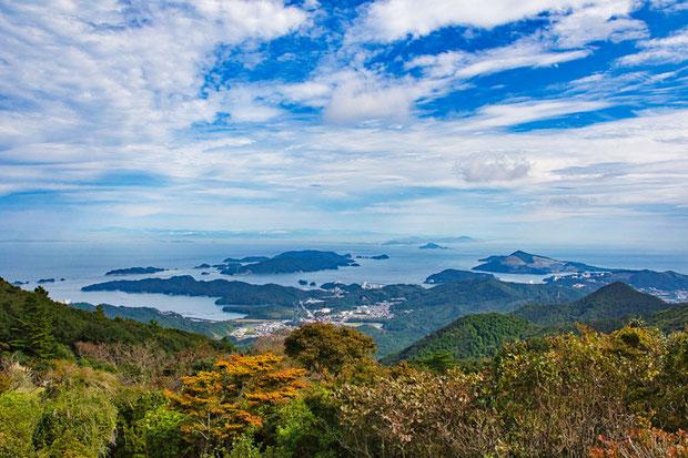 目的地近くのお山のからの風景