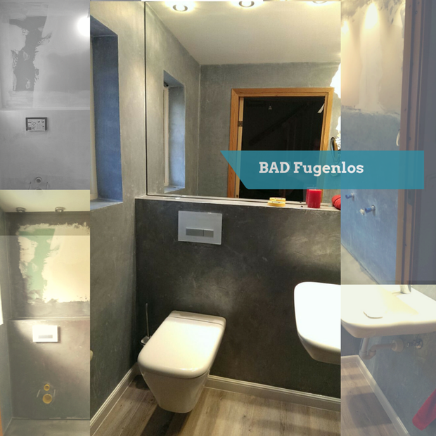 Fugenloses Badezimmer - Exklusive Malerarbeiten