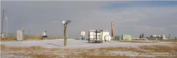 天然ガス田にTDLASシステムを設置し、H2Sガス濃度をモニタリング