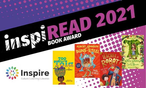 inspiREAD 2021 book award shortlist poster