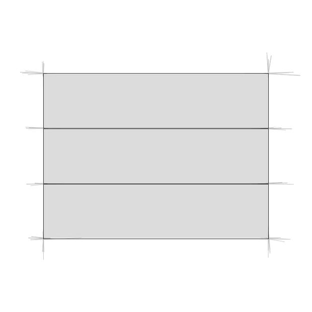 Rechteck dreifach unterteilt
