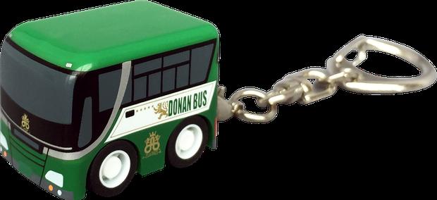 プルバックカー ストラップ/キーホルダー バス型
