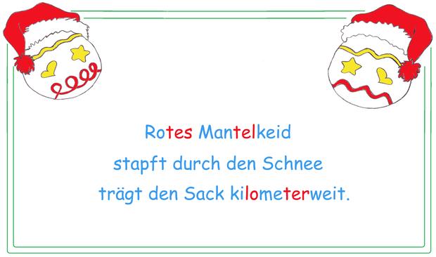 Haiku schreiben lernen, Gedichtformen Grundschule, Weihnachten Arbeitsblätter, farbige Silbenschrift