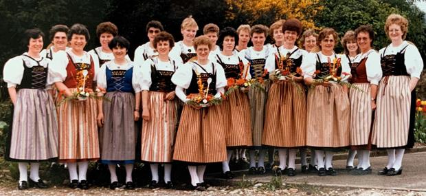 Gesamtbild , anlässlich des ersten öffentlichen Tanz auftritt an der Schweizerischen Küchencheftagung in Aarau 1985