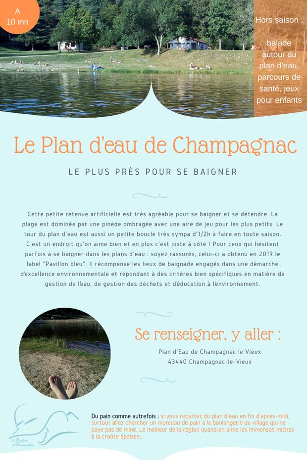 Plan d'eau de Champagnac le Vieux