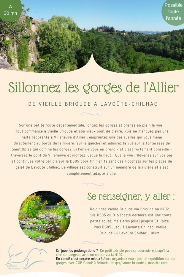 tourisme vert dans les gorges de l'Allier en Auvergne