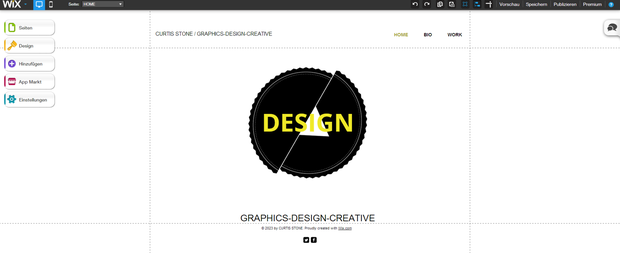 wix Homepagevorlage
