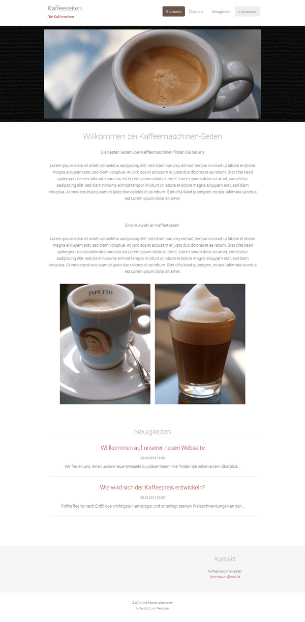 Webnote Testergebnis