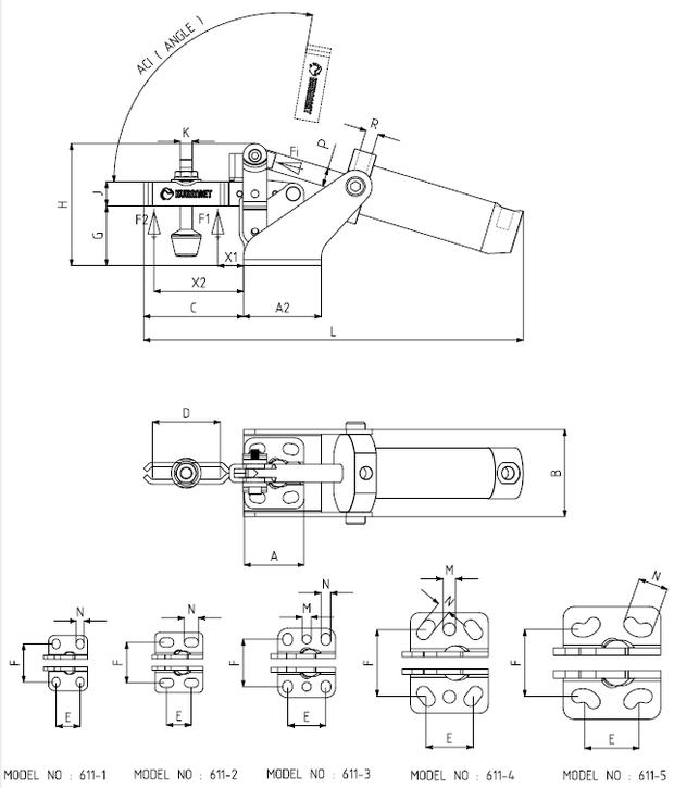 KUKAMET Pneumatikspanner mit Vertikalspanner - Befestigung Vorne