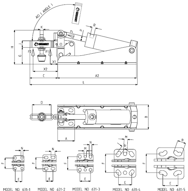 KUKAMET Pneumatikspanner mit Vertikalspanner - Befestigung Hinten