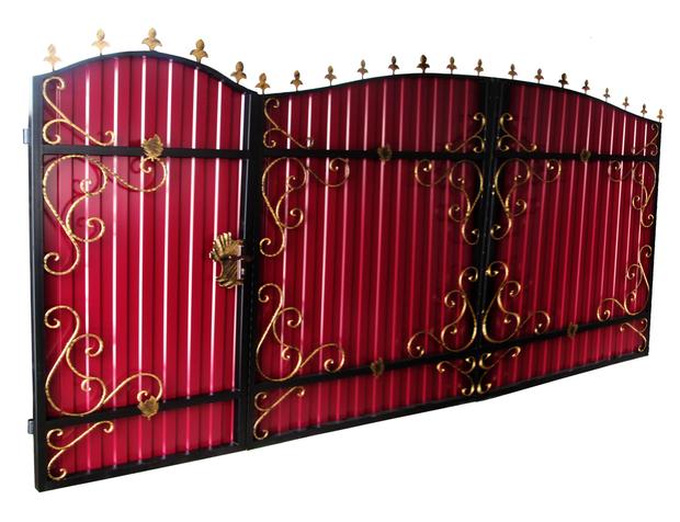 ворота с калиткой.