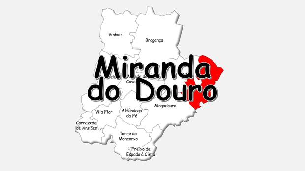 Localização do concelho de Miranda do Douro no distrito de Bragança
