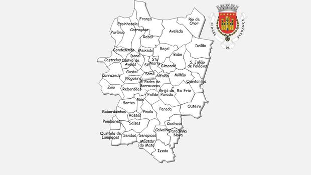Freguesias do concelho de Bragança antes da reforma administrativa de 2013