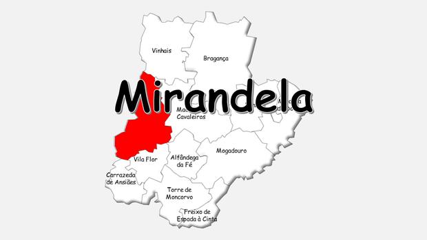 Localização do concelho de Mirandela no distrito de Brganaça