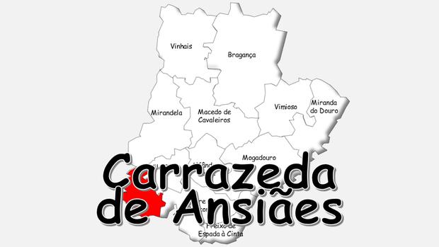 Localização do concelho de Carrazeda de Ansiães no distrito de Bragança