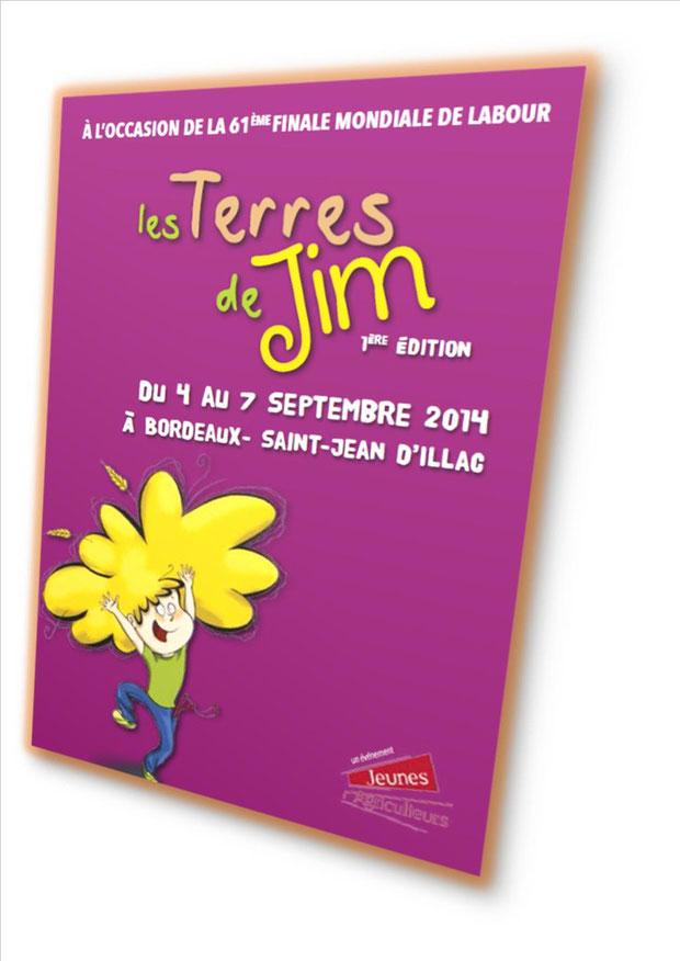 l'affiche des Terres de Jim qui se dérouleront du 4 au 7 septembre 2014.