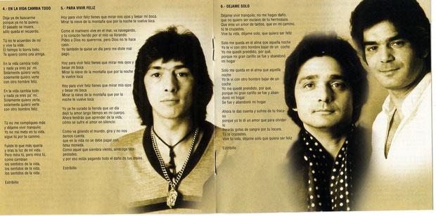 INLAY DE CD DEJAME SOLO 1983