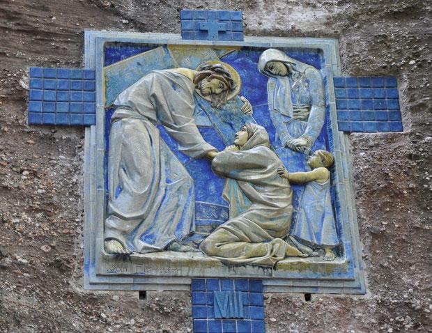 Jésus rencontre les femmes de Jérusalem en pleurs