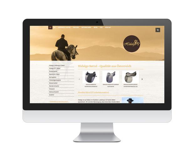Hidalgo Sattel Onlineshop Webprojekt und Google Optimierung