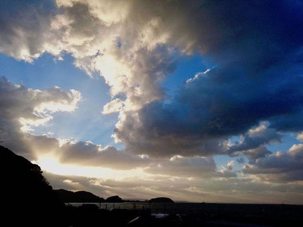 福岡県糸島市の夕日