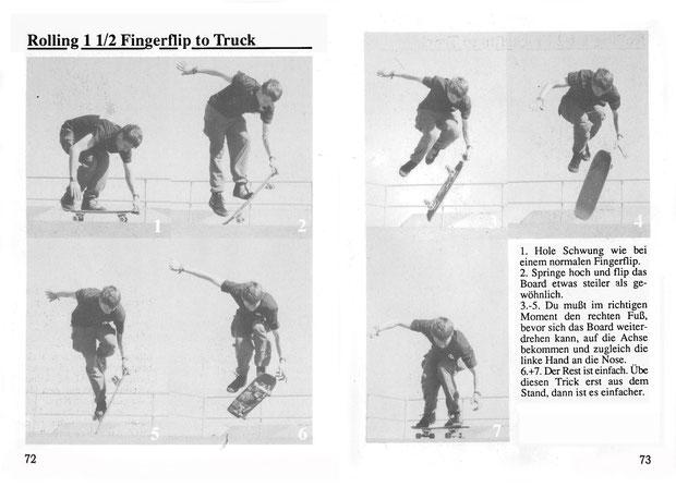 Guenter Mokulys. San Francisco 1991. Trick: Fingerflip to Truck.