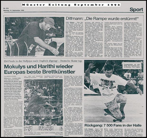 Münster Zeitung 1992.