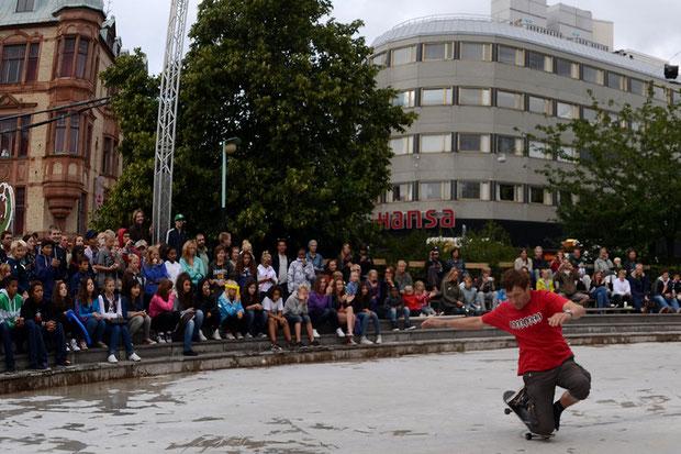 In Malmö / Schweden, bei einer Streetshow