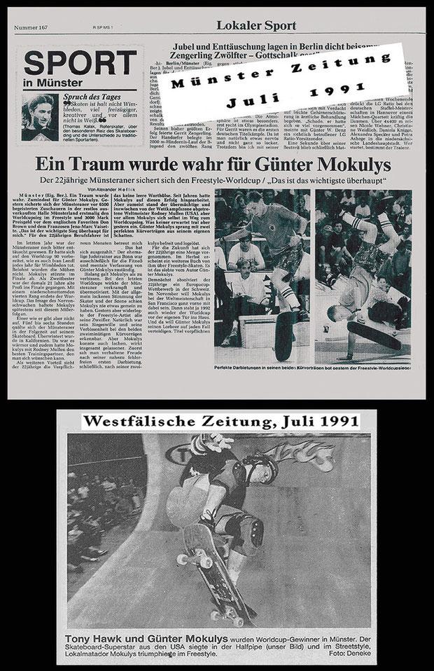 Münster Zeitung und Westfälische Zeitung 1991